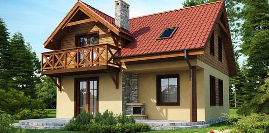 комфортабельный дом из клееного бруса фото