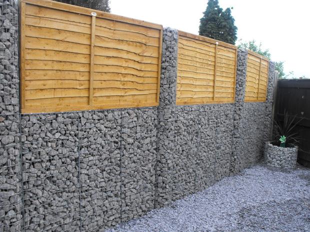 садовые ограды  из габионов