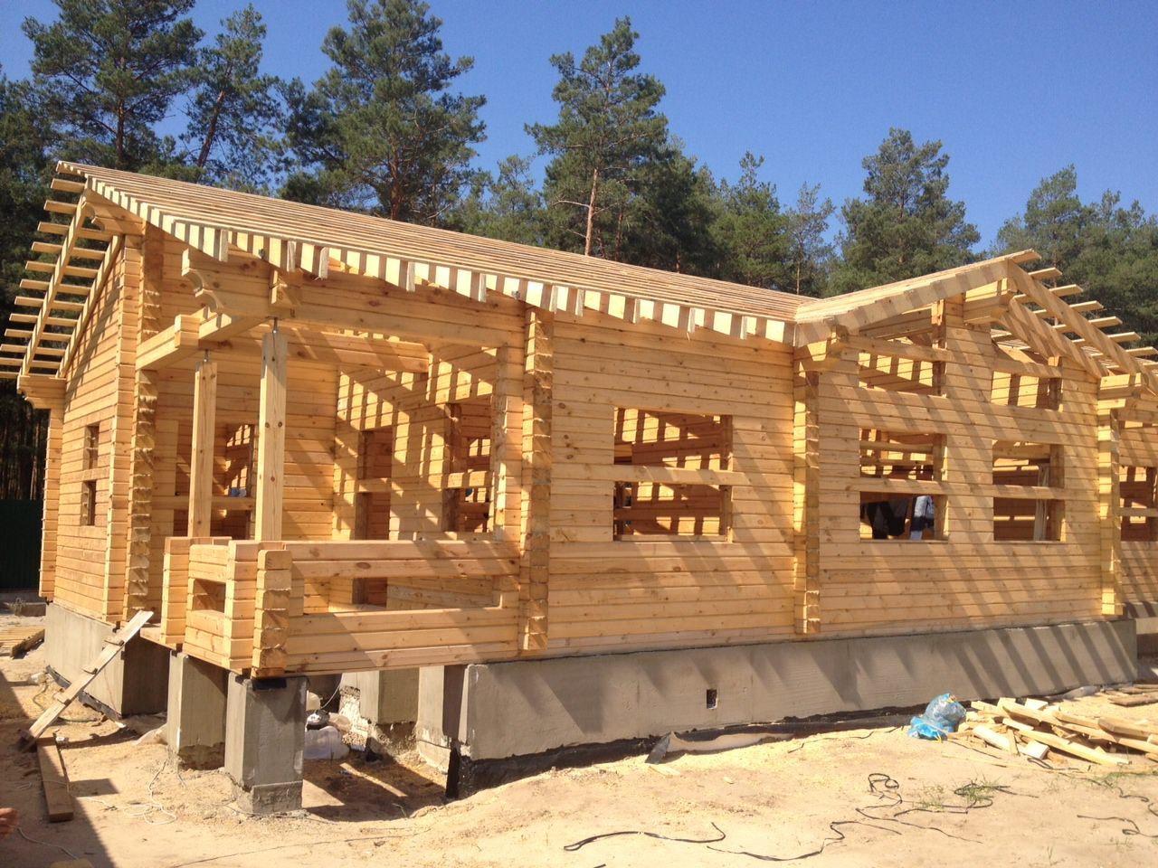 cтроительство домов с применением бруса