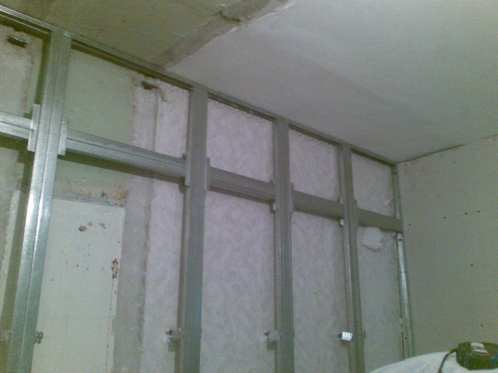 стена из гипсокартона как крепить
