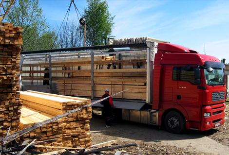 транспортировка пиломатериалов