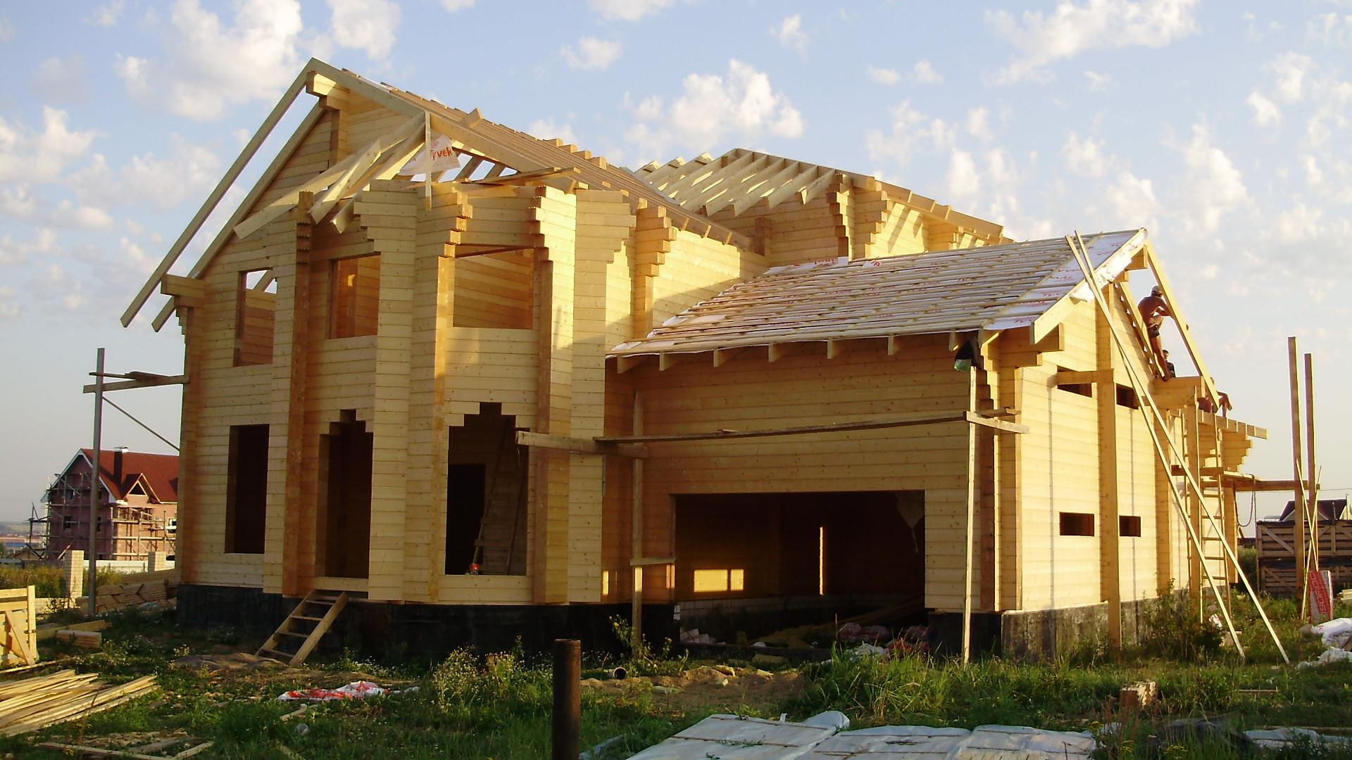 Строить дом из клееного бруса своими руками