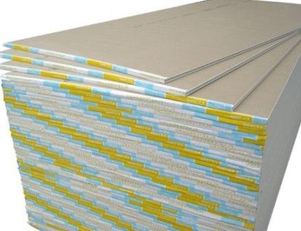 листы гипсокартонные стандартные в пачках  фото