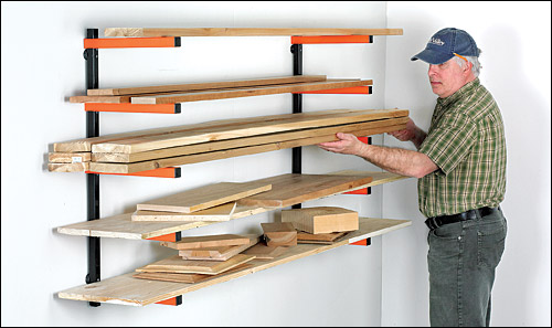 стеллаж для хранения пиломатериалов