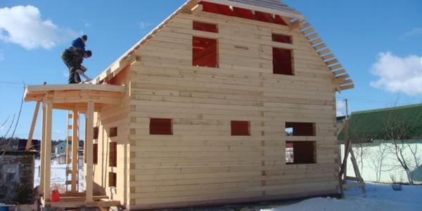 Строительство деревянных домов зимой