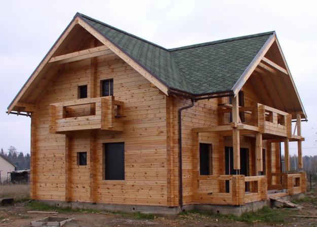 дом из бруса не профилированный