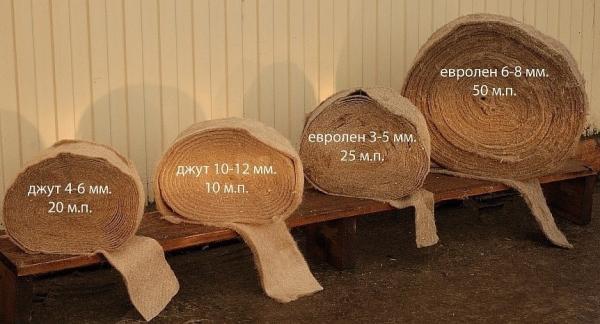 джутовое волокно размеры