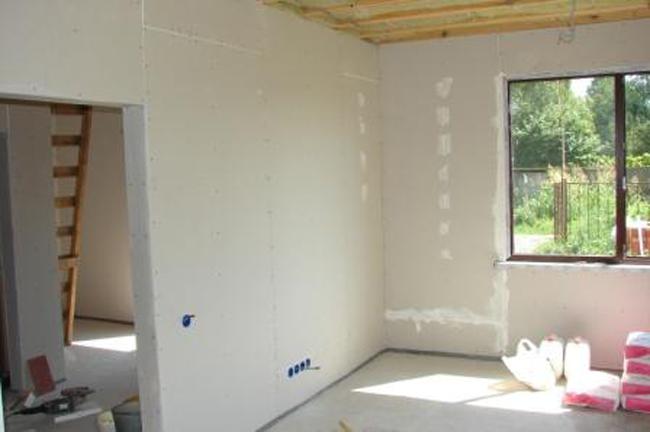 отделка домов из бруса гипсокартоном