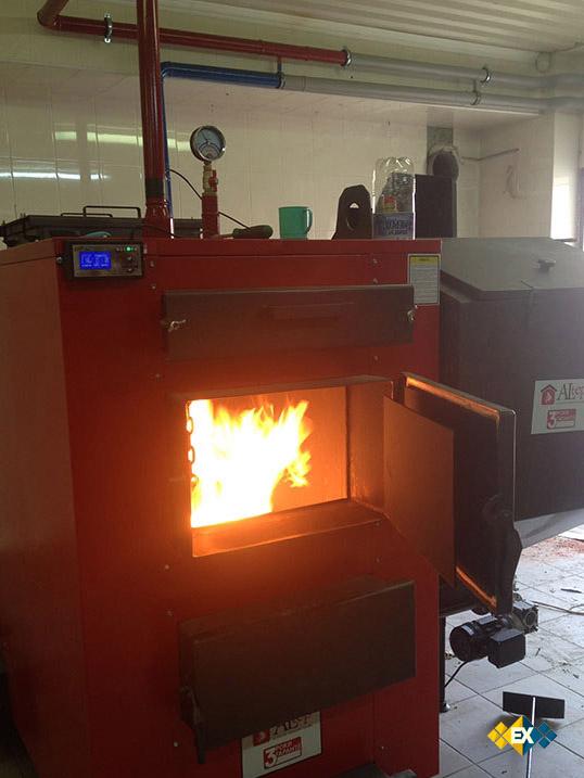 отопление загородного дома углем