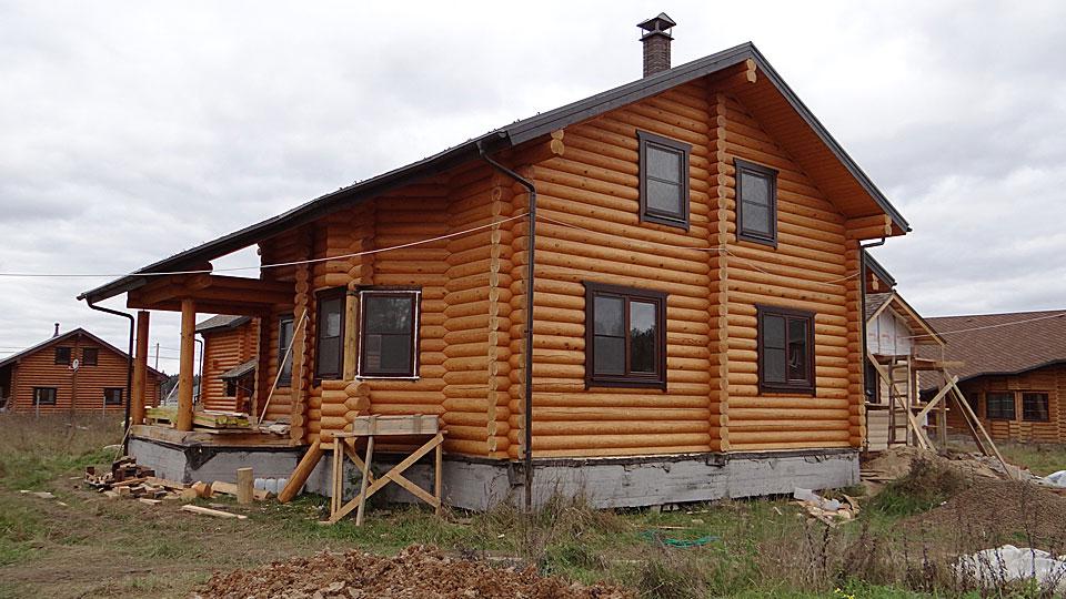 деревяный дом из сосны
