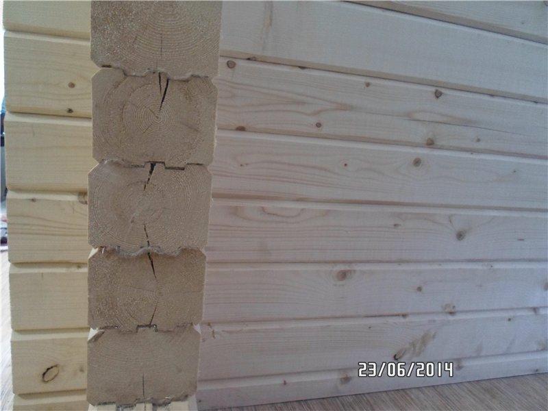 трещины в доме из профилированного бруса