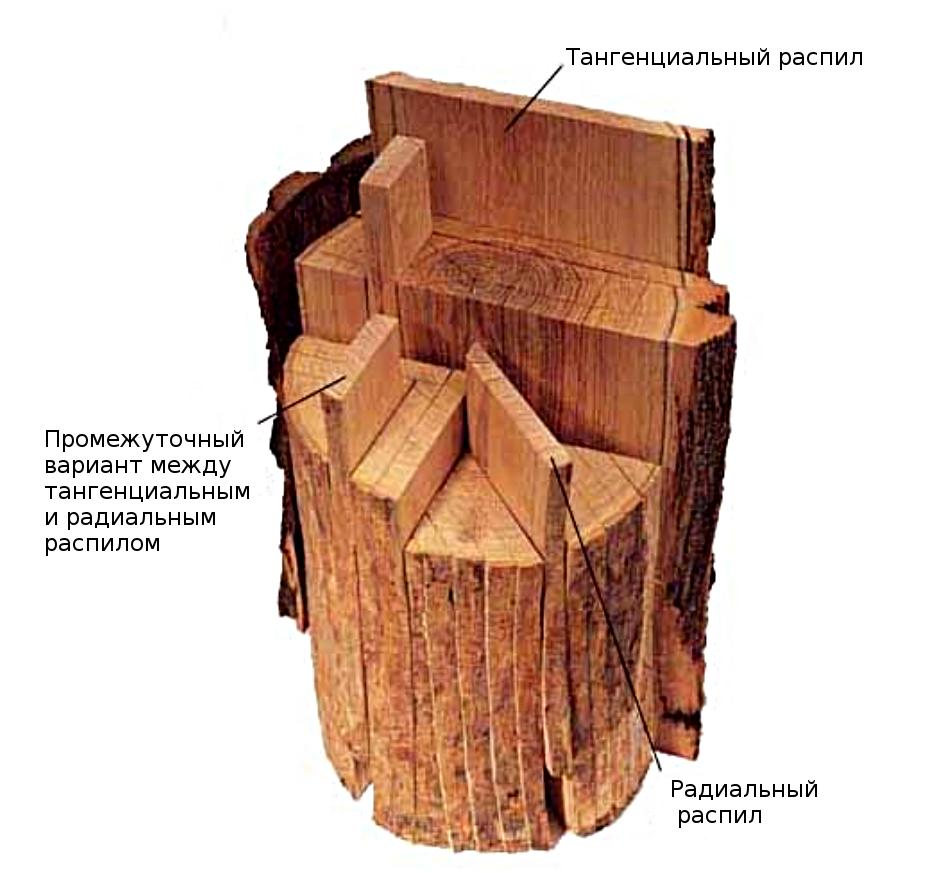 тангенциальный распил
