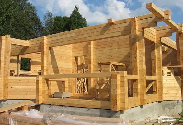клееный брус постройка дома как это выглядит