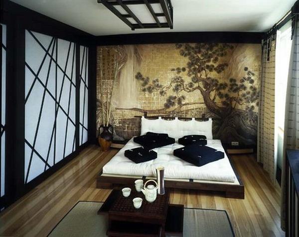 спальня в японском стиле на фото