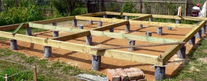 фундамент для дома из бруса столбчатый