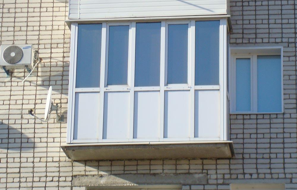 остекление балконов ПВХ фото