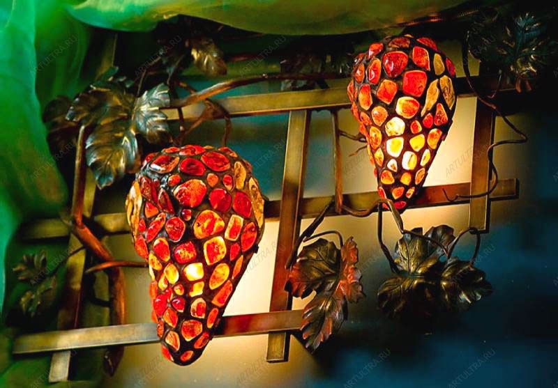 витражные светильники фото