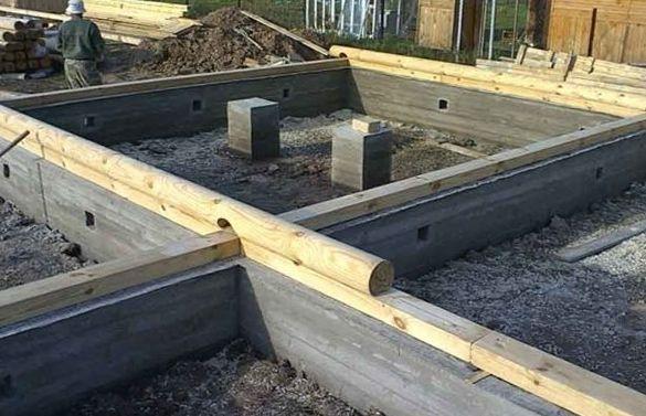 фундамент для дома из бруса ленточный