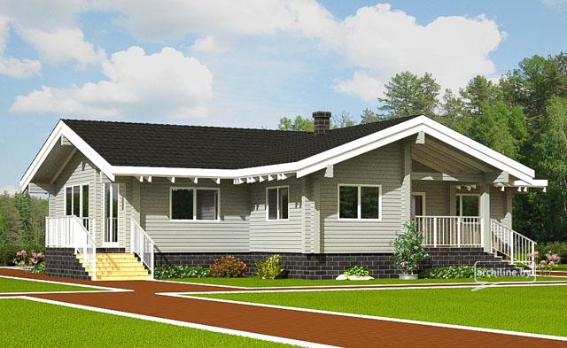 дом из профилированного бруса   на фото