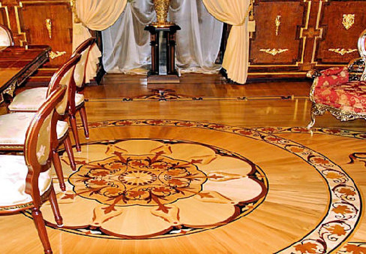 паркетные полы в Останкинском дворце Шереметьевых