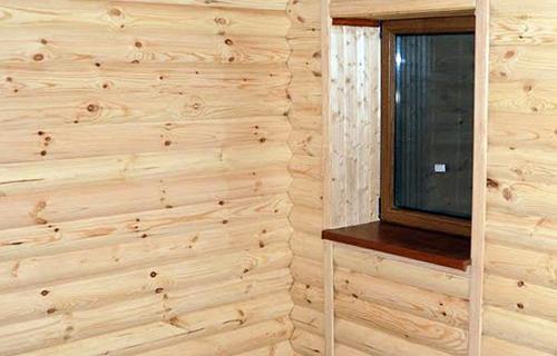 внутренняя отделка помещения блок хаус