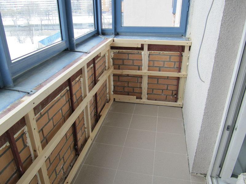 каркас для вагонки на балконе