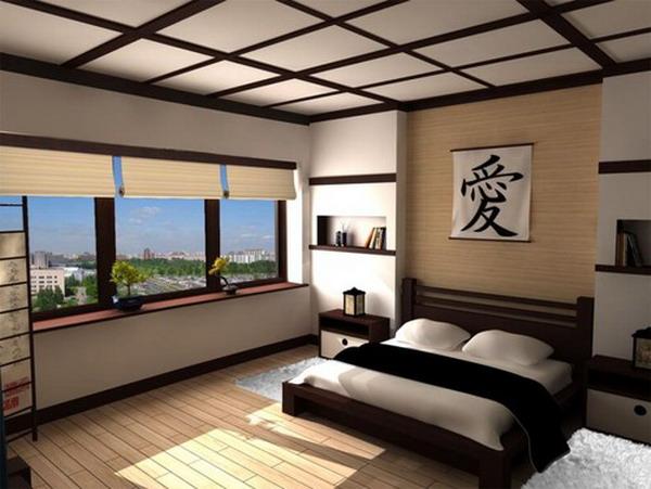 спальня в японском стиле модерн